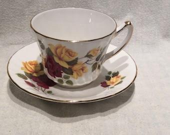 Teacup and saucer.