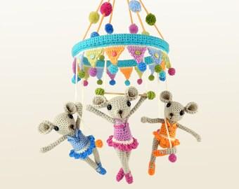 The Trapeze Triplets Circus Mice - Amigurumi Crochet Pattern