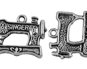 set of 5 charms machine silver Tibetan 20 x 19 mm