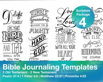 Bible Journaling Template Package 4