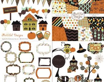 Halloween Digital Scrapbook Kit - Spooks On