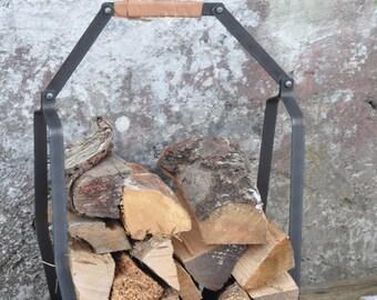 Foldable firewood basket.