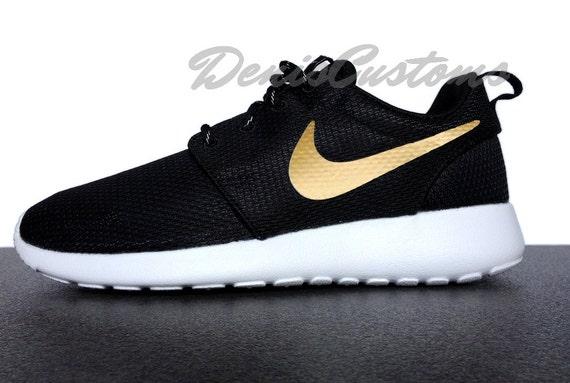 Nike Roshe Vie Blanc Run Or Noir