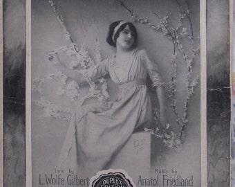 1915 My Little Dream Girl Anatol Friedland L Wolfe Gilbert Song Book Sheet Music