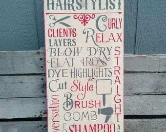 Hair Stylist Sign, Beauty Shop Sign, Hair Salon Sign, Beauty Salon Sign, Hair Shop Sign, Working Class Sign, Hair Stylist Gift Sign,