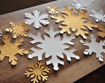 Winter Onederland Party Decoration Photo Backdrop.  Handcrafted in 2-5 Business Days.  Jumbo Snowflake Wall Confetti 12 CT.