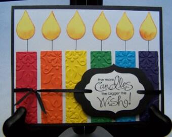 Homemade Birthday card, happy birthday card, homemade card, handmade card, candle card, stampin up card