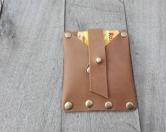 Minimalist Card Holder, Leather Credit Card Case, Leather Wallet, Free Personalized, Custom Gift, CardHolder