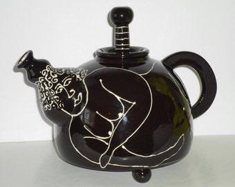 Whimsical NAKED LADY ceramic Teapot