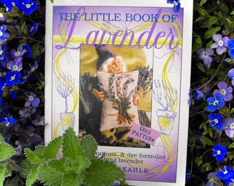 Little Book Of Lavender by Karen Kahle//rug hooking ideas and inspiration//dye formulas//B&W illustrations//lavender pillow pattern