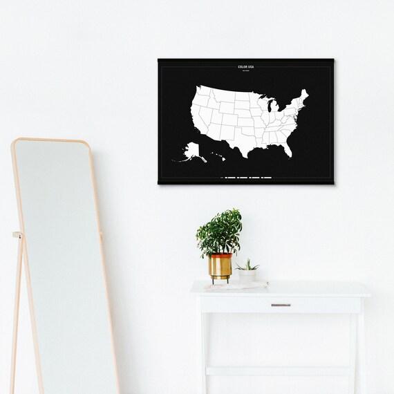 USA Reise Karte USA Reise Karte Poster Reise-Geschenke