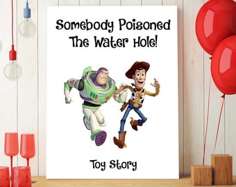 Toy Story Prints, Disney Quotes, Toy Story Woody, Buzz Lightyear Art, Birthday Party Background, Kids Room