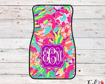 Monogrammed Lilly Inspired Car Mats - Lulu