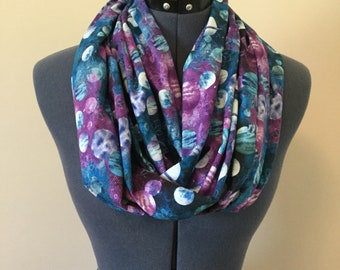 Planetary Infinity Scarf / Planets / Stars / Outer Space / Galaxy / Universe / Infinity Scarf / Scarf / Nebula / Celestial / Science / Gift