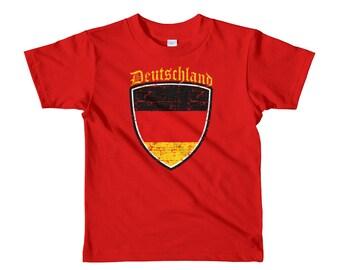 Deutschland - Deutschland Tshirt - Deutschland Flag - Germany - German - German Flag - Deutschland Tee - German Shirts - Short sleeve kids t