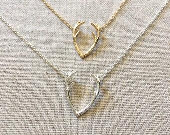 Antler Necklace, Gold Necklace, Layering Necklace,Delicate Necklace,DaintyNecklace, Birthdaygift, AnniversaryGift,BridesmaidGift,WeddingGift
