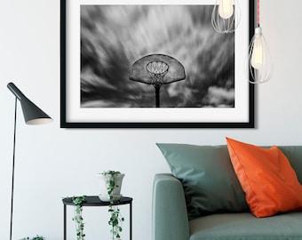 Basketball Dreamland - New York Photography, Black and White, Architecture, Wall Art, NYC, Fine Art Print, Urban Art, Home Decor