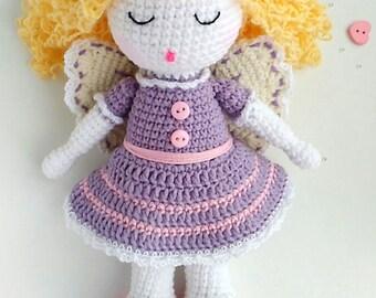 PATTERN Crochet doll pattern  Crochet angel pattern PDF Pattern  angel  pattern