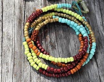 Colorful BOHO Three-Way Wrap