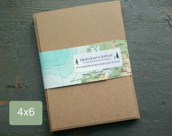 """100 4 x 6"""" Kraft or Light Brown FLAT Cards & Envelopes, 100% Recycled, Blank Photo/Greeting/Response Cards with Envelopes, 4x6"""", 65-105lb"""