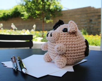 Pierre | Digital Crochet Pattern | Amigurumi Pig