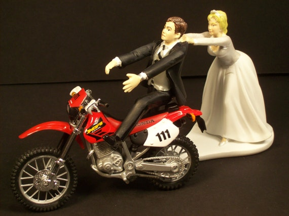 Come Back Dirt Bike Red HONDA 400 R xr Bride and Groom Funny