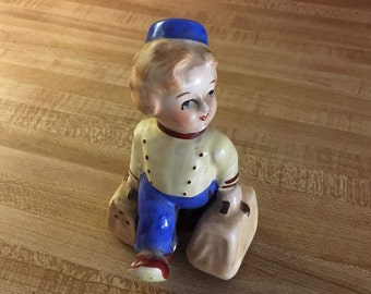 Bellhop Salt And Pepper Shaker Vintage 1940s Occupied Japan