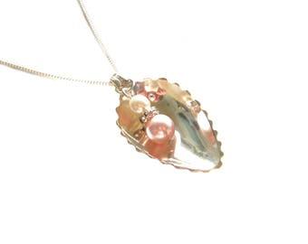 Flatware jewelry pendant silver cutlery necklace silver, spoon pedant, necklace flatware jewelry, pendant spoon