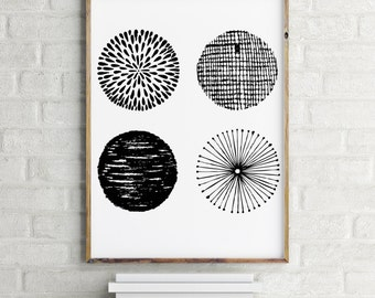 Circle Print / Minimalist Print / Abstract Print / Digital Print / Printable
