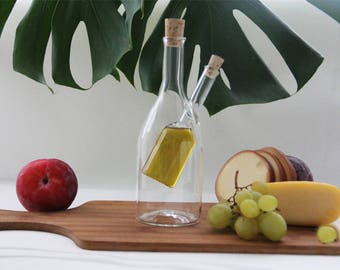 Original bottle for oil and vinegar,glass bottle, oil bottle,vinegar bottle,oil container,olive oil bottle,olive oil dispenser,table decor,