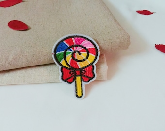 lollipop patch/candy patch/iron on patch/embroidered patch/patch for girl