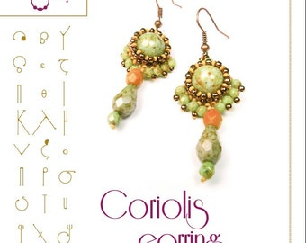 earring tutorial / pattern  Coriolis earring...PDF instruction for personal use only