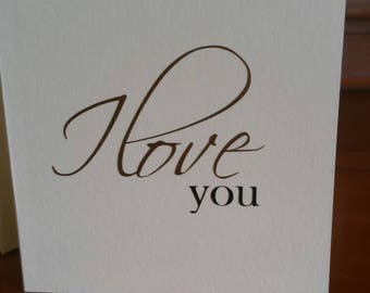 Mini card - I love you - blank card - Love - small card - note card - anniversary - Birthday - Love you - Love note - romantic note - note