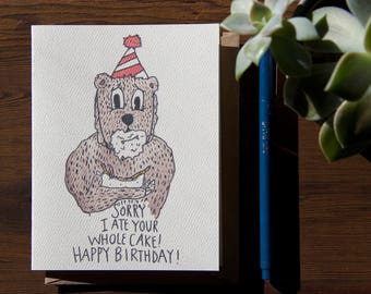 Sorry I Ate The Cake Birthday Bear