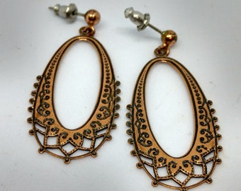 Lovely Vintage Copper Chandelier Earrings