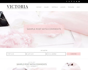 Victoria - Feminine WordPress Theme - Genesis Child Theme - SEO - Responsive - Slider - Ecommerce - Portfolio - Blog