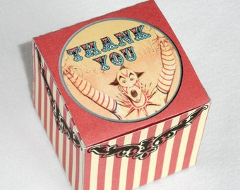 Circus or Carnival Favor Box Printable Instant Download