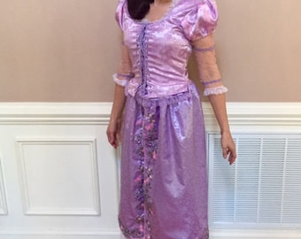 Custom Rapunzel Dress, Gown, Costume for Girls, Adult Women, or Toddlers