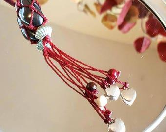 Charm necklace with Hematite gemstone