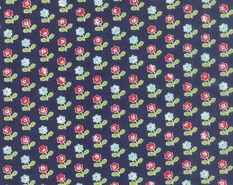 Vintage Picnic - Rosie in Navy by Bonnie & Camille for Moda Fabrics