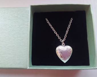 Girls Heart Locket Necklaces , Child Photo Lockets, Kids Pendants Jewellery Gifts, Girls Stocking Stuffers Fillers