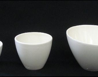 COORSTEK Graduated Crucible Set - Laboratory, Pharmacy, Medical, Labware Porcelain - 60138, 60108, 60105
