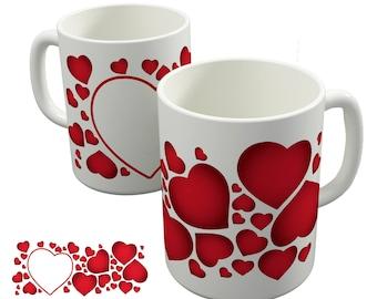 Valentines Mug Heart Crazy Personalised