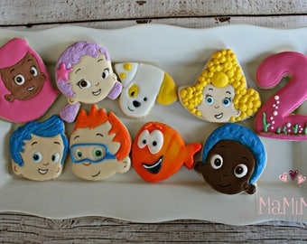 Bubble Guppies Cookies-Bubble Guppies Decorated Sugar Cookies