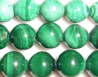 8mm Round Malachite Natural Bead Semiprecious Gemstone Bead String Beading 15''L Jewelry Supply Wholesale Beads