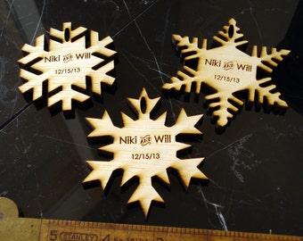 120 Snowflake Wedding Favors