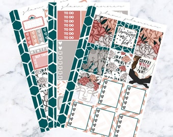 Silver Foiled Namastay in Bed Essentials Sticker Kit