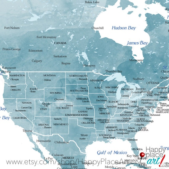 World map with usa states usa states and cities map with usa world map with usa states usa states and cities map with usa details aqua turquoise large world map watercolor push pin map usa map gumiabroncs Gallery