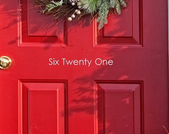 """Number Decals for your front door  -  25"""" long X 5"""" tall  -   Street Address outdoor decor"""