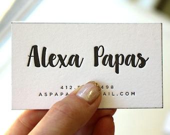 Business cards etsy letterpress business cards calling card custom calligraphy photographer event planner logo script simple black gold b102 colourmoves